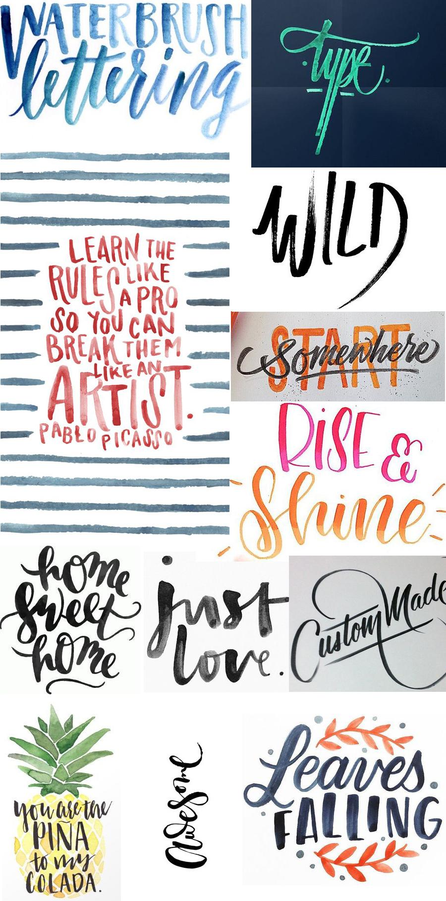 Moodboard atelier #1 : brush lettering