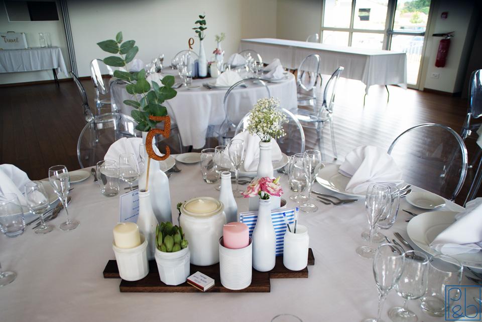 Table mariage - DIY bouteilles et bocaux