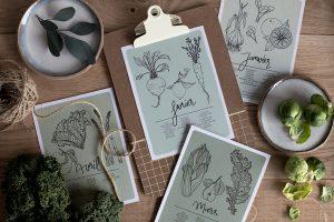 Calendrier 2018 fruits et légumes Mamie Boude - free printables